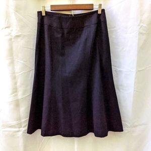 Talbots Petites blk wool skirt